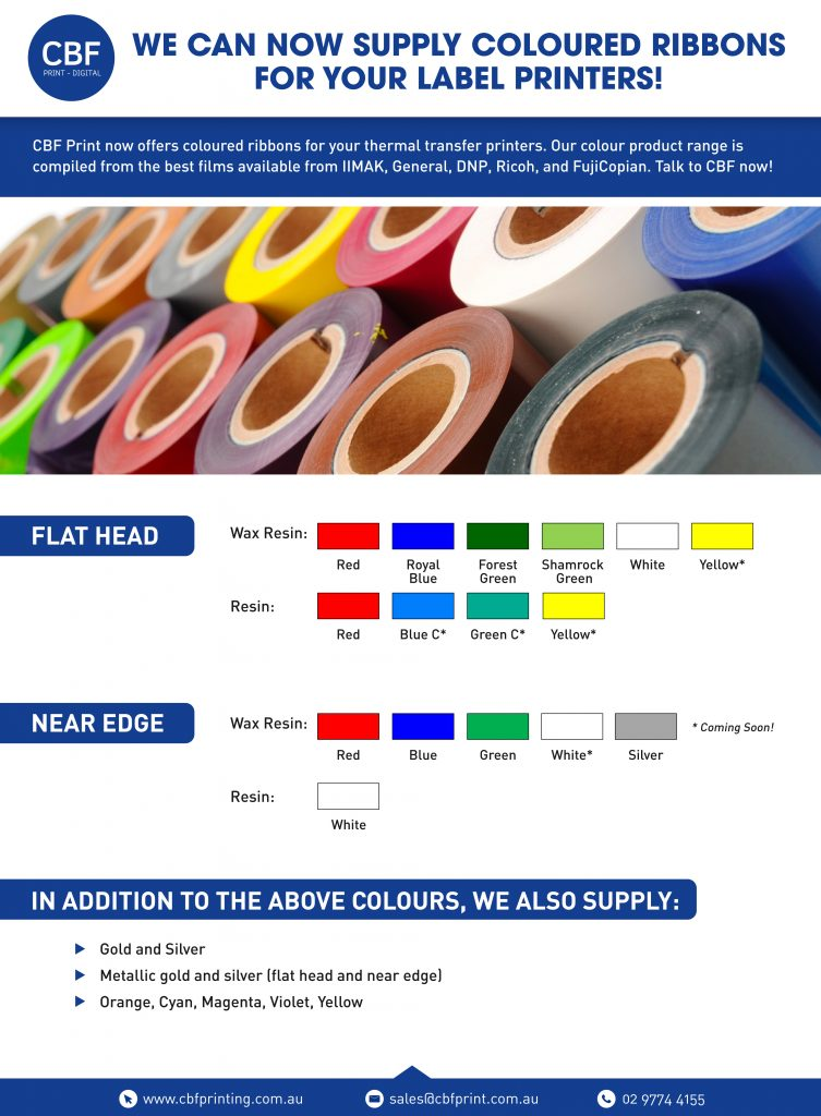CBF Colour Guide